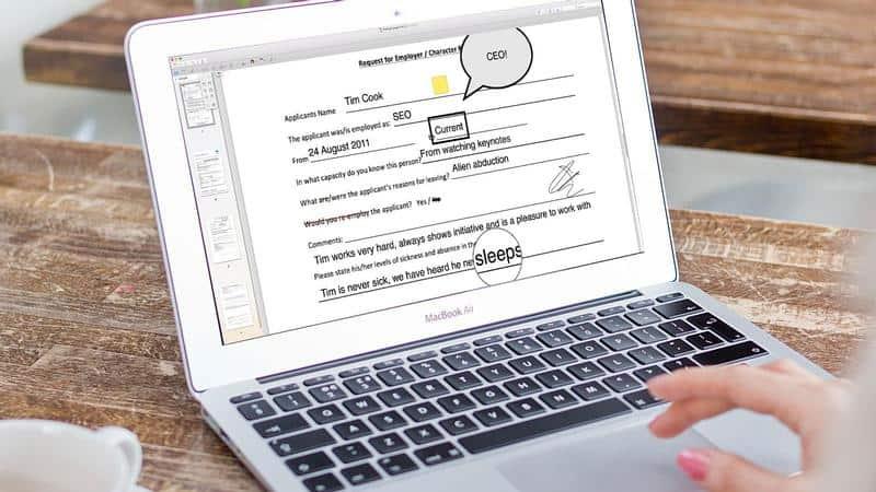editare și corectare a unui text