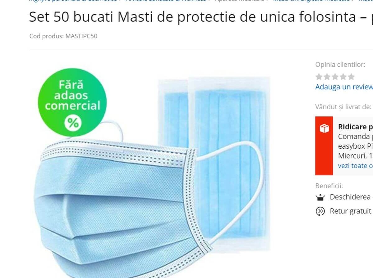 masti de protectie ieftine
