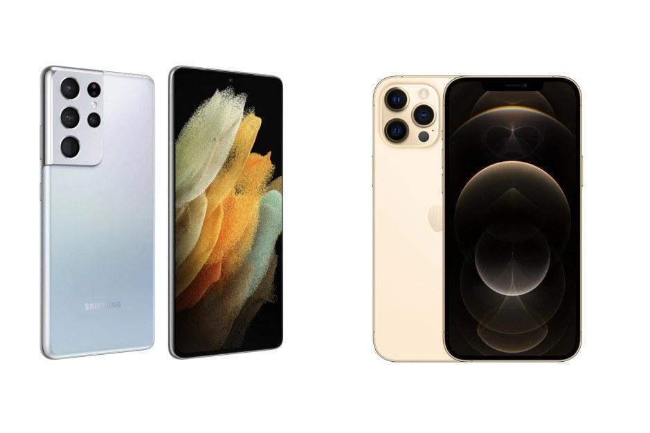 Samsung Galaxy S21 (Ultra) vs iPhone 12